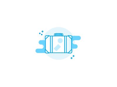 Suitcase illustration / icon sketch draft outline lineart monochrome icons icon illustration holiday travel luggage suitcase