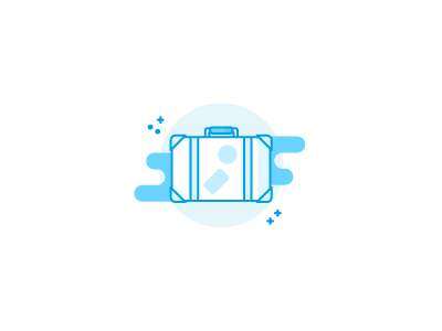 Suitcase illustration / icon sketch draft outline lineart monochrome icons icon illustration holiday travel luggage suitcase