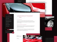 Luxury transportation page