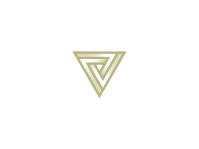 V logo tribar penrose triangle impossible illusion v symbol mark icon logo letter lettermark