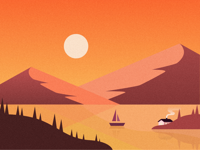 Mountains texture noise sun hills mountains gradients gradient design illustration dribbble