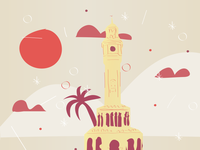 Izmir Clock Tower Illustration
