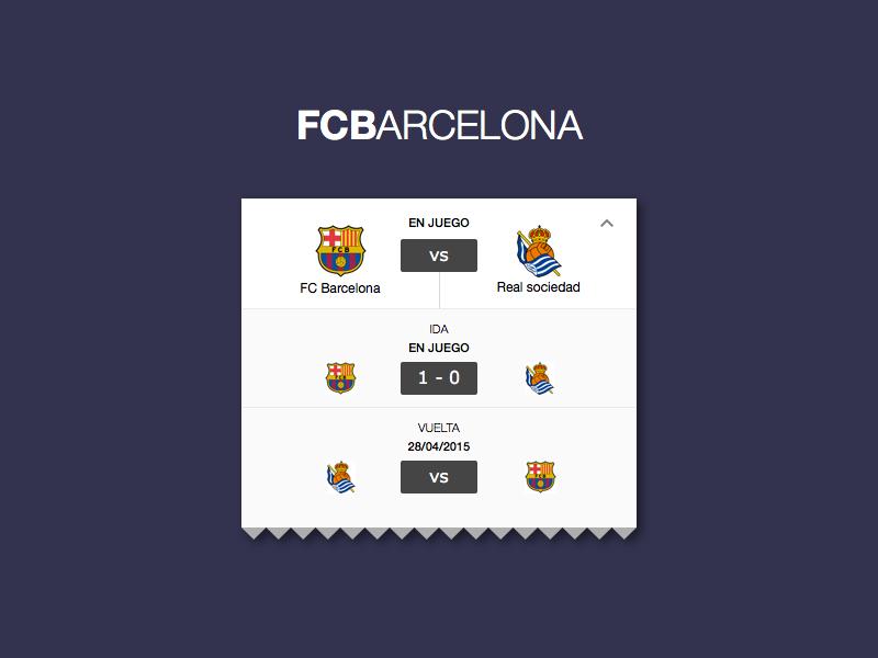 Elimination Stage workflow ui ux vs official app barcelona fcb