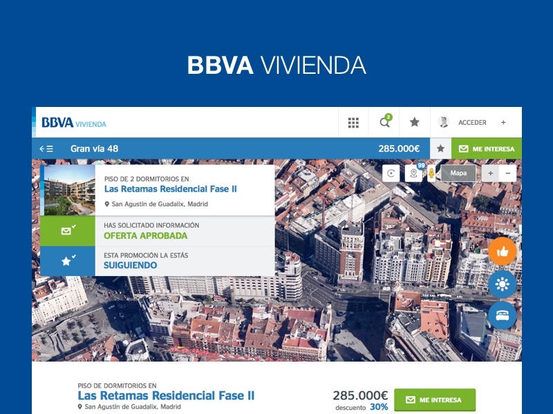 BBVA vivienda real estate template listings living house home