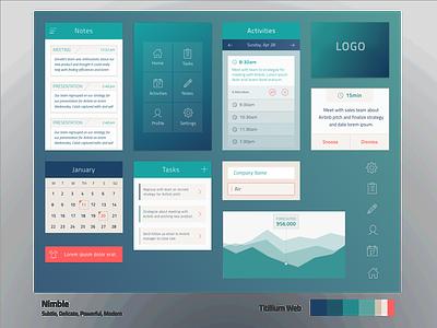 Visual Language Study 4 ui design typography iconography color interaction design