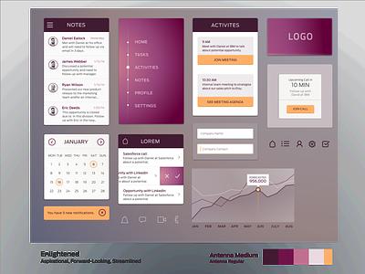 Visual Language Study 2 ui design typography iconography color interaction design