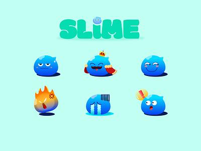 slime design illustration ui