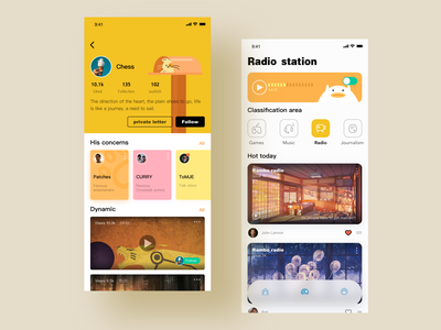 Rambo radio illustration icon app ui design