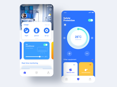 Try the concept of smart home illustration design icon ui