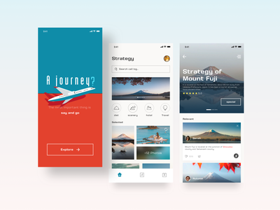 Travel software typography illustrator illustration flat icon app ui design