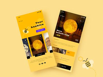 Beehive branding art illustrator typography illustration flat icon app ui design