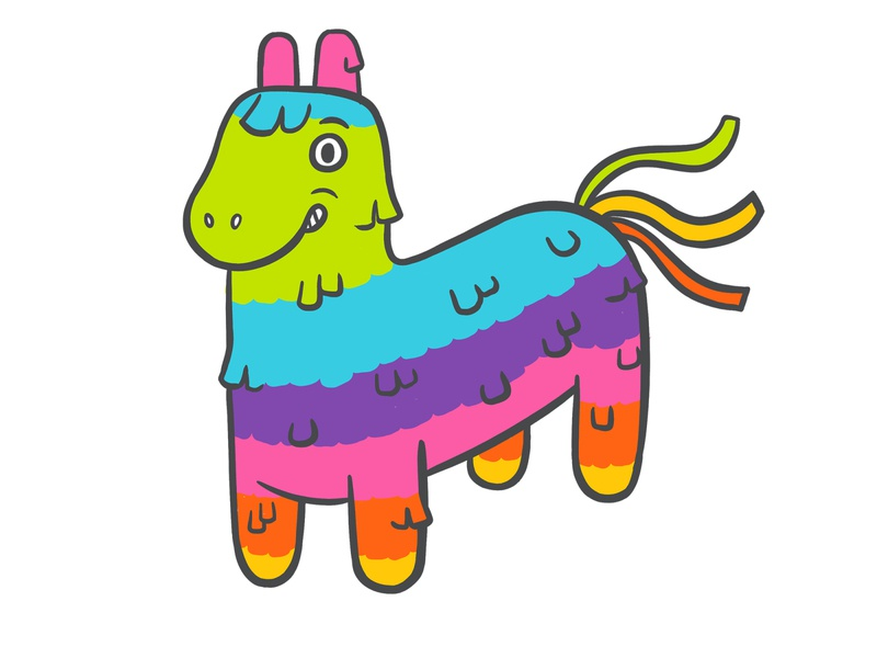 Fiesta colourful rainbow fiesta festive party celebration candy pinata llama