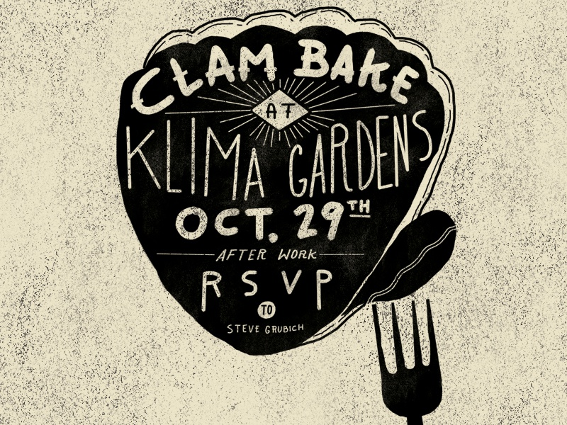 quick clam bake invite flyer by chris corsi dribbble dribbble