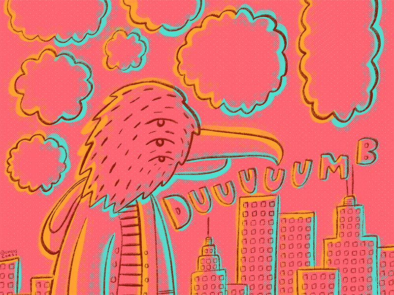 ...and also stupid... texture bird city graphic comic illustration
