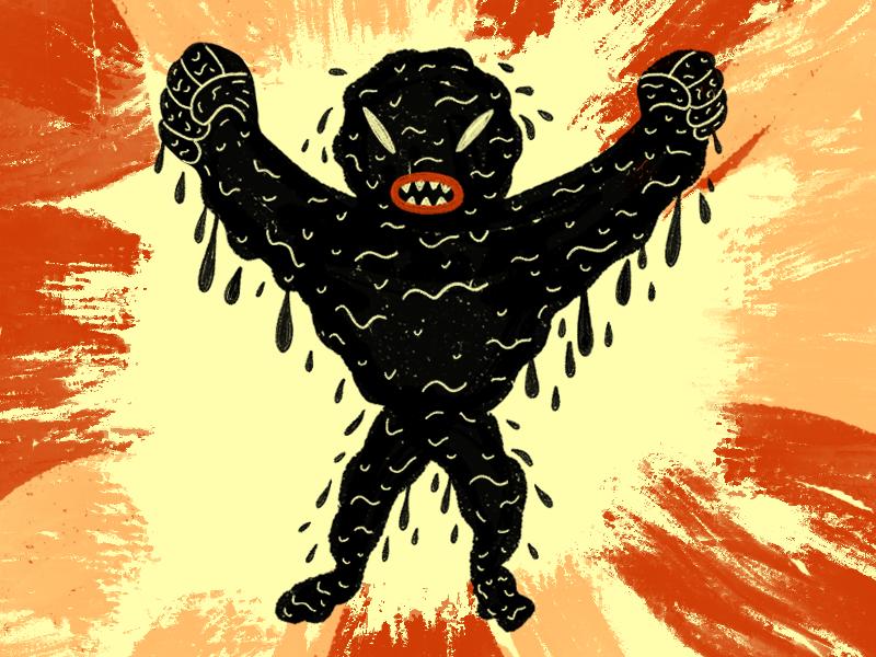 Goo Boy print monster texture comic illustration