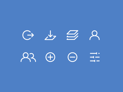 Opti Application Icons icons simple iconography app application ui