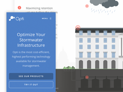 Opti Website Launch ui illustration website marketing brand product startup