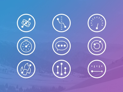 GogglePal Feature Icons icons illustration ski sports