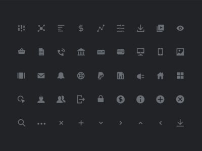 Adterminal Icon Set ui clean simple icons illustration app web iconography