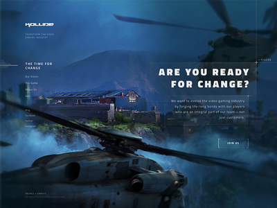 Gamers - are you ready for change? hud gaming layout dark ui web