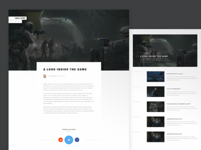 Kollide Blog simple clean gaming layout web ui light blog