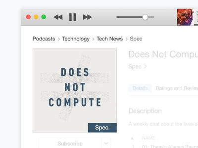 Does Not Compute – Podcast Artwork design development passion identity branding artwork podcast