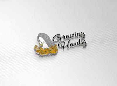 3D File Same Tittle #Growing #Handsz lettering type illustrator art animation vector logo illustration design branding