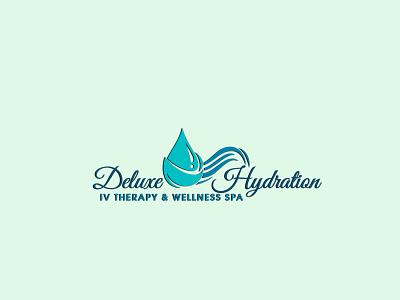 # 2. Deluxe HYDRATION (3 Professional Logo Design's) unique modern elegant signature 3d design branding logo