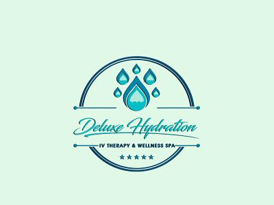 # 3. Deluxe HYDRATION (3 Professional Logo Design's) unique modern signature elegant branding logo graphic design 3d