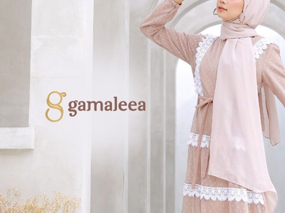 Gamaleea Hijab Logo hijab fashion fashion logo hijab logo vector desainlogo logo visual identity branding design brand identity