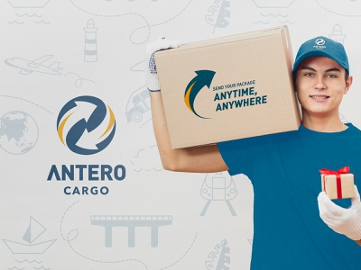 Antero Cargo Logo logistics company expedition cargo logo logistics logo logo desainlogo visual identity branding design brand identity