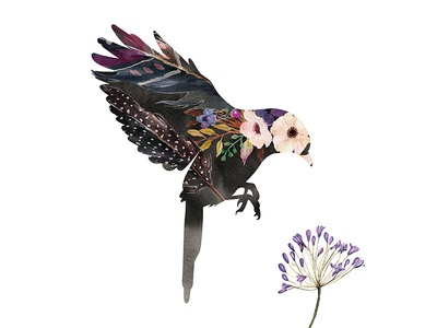 Hummingbird Watercolour Silhouette