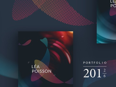 Book Lea Poisson portfolio luxury elegant branding behance print webdesigner france rennes creative design rainbow