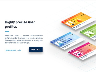 Monster identity card webdesign ux character illustration graphic predictive ui adapti.me card personnalisation identity monster