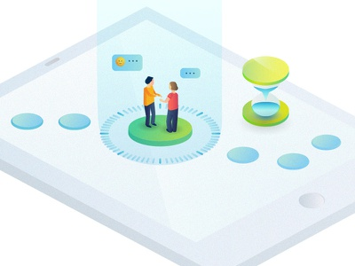 UX Temporality isometric editorial press web media ipad ui design illustrator illustration experience ux