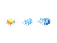 Isometric illustration | Home