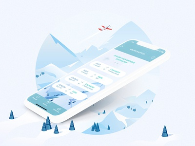 Mobile App | Winter Shuttle illustration 3d new feature winter iphone x mobile application webdesign ux ui app