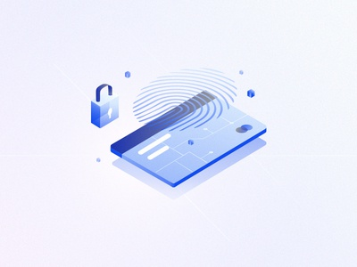 Cryptocurrency #1 data locker card secure money isometric illustration bitcoin cryptocurrency