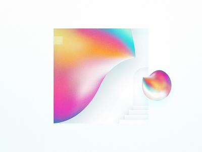 SILK • 1 design illustrator 3d drop colorful door illustration conceptual