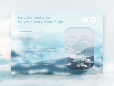 Travel App Exploration luxury interaction animation interaction ux animation uidesign website aircraft travel interface motion after effect ui ux design