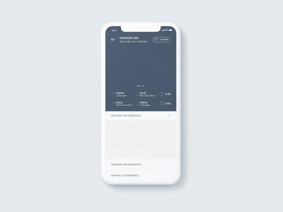 Mobile interaction | Travel App private jet luxury after effect mobile app design mobile app application ui interface designer interface animation animation motion design ux ui interactive interaction mobile slider