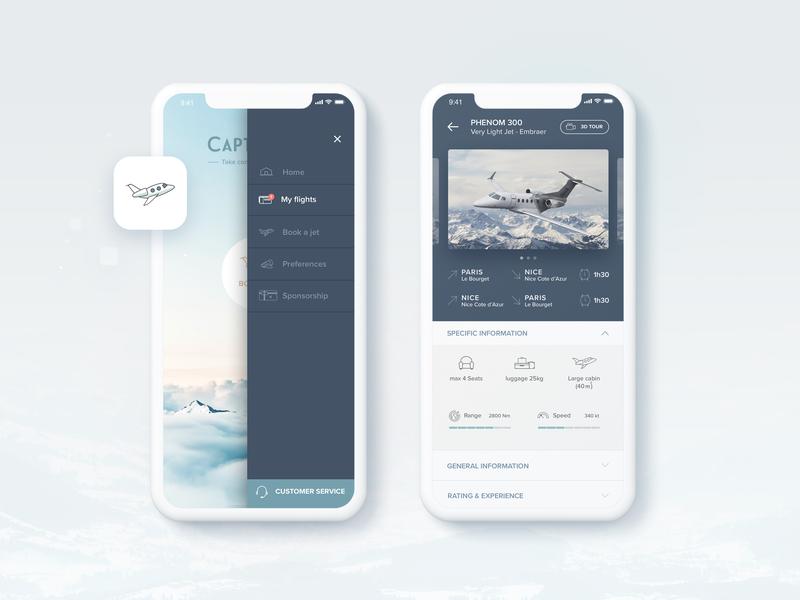 Mobile Interface | Travel App sketch filght business aviation aircraft travel luxury private jet logo webdesign interaction ui design mobile interface mobile device screen mobile interface mobile app ui  ux design