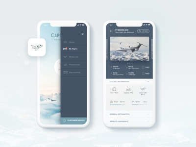 Mobile Interface | Travel App sketch filght business aviation aircraft travel luxury private jet logo webdesign interaction ui design mobile interface mobile device screen mobile interface mobile app ui  ux design