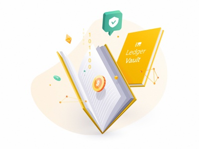 Ledger Vault Whitepaper Illustration vector ui crypto crypto wallet book digital artist illustration digital whitepaper edition illustrator