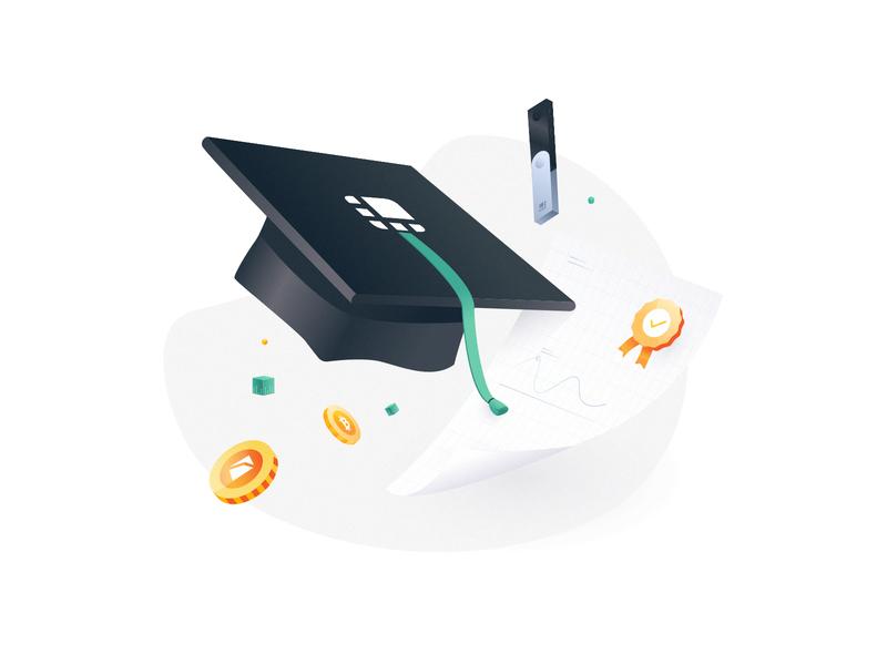 3D Illustrations | Ledger Academy 🎓 vector drawing illustrator illustrations 3d 3d illustration bitcoins hardware ledger crypto blockchain bitcoin illustration academy