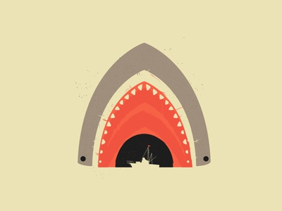 Great White Bite shark great white shark attack jaws spielberg ryder ryder doty threadless