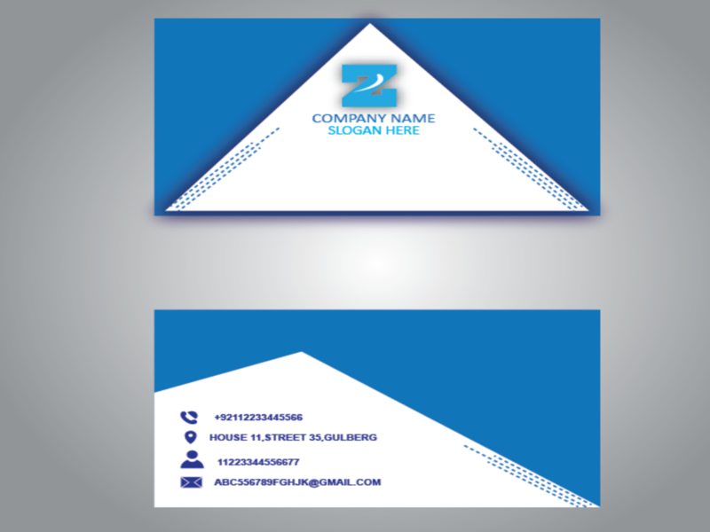 BUSINESS CARD DESIGN IN BLUE vector