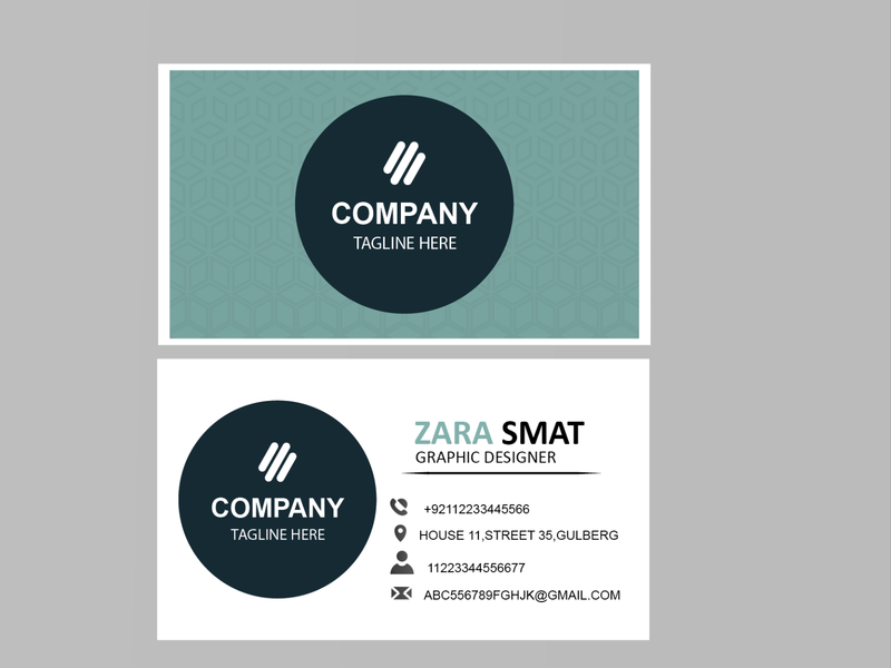 business card pattern blue branding logo