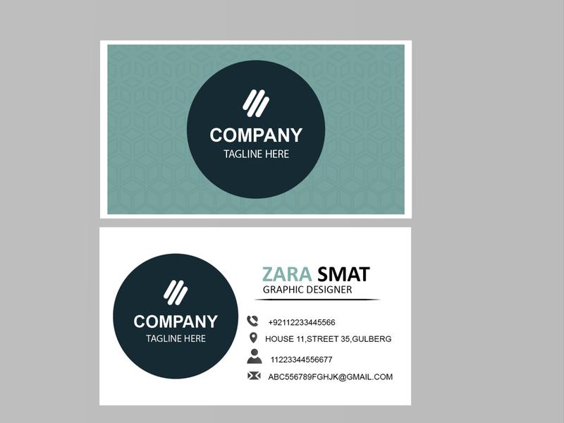 business card pattern blue branding logo