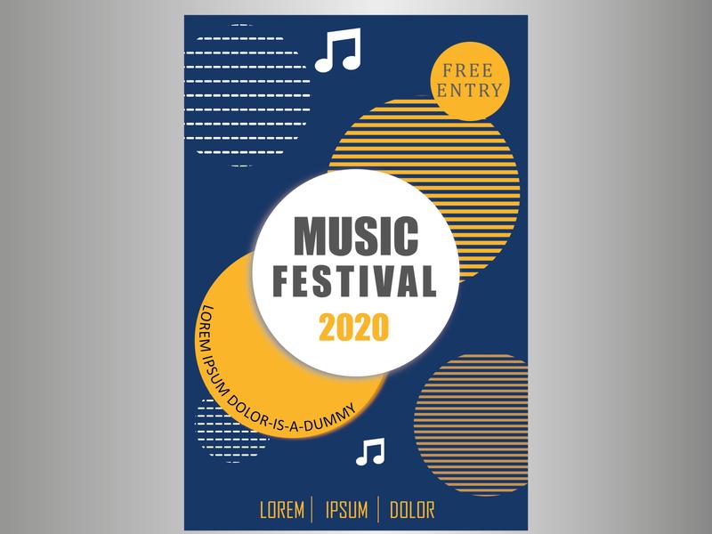 POSTER OF MUSIC branding design